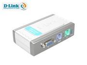 D-Link DKVM-2K   2口塑壳桌面型,用于连接PS/2接口服务器,送2组1.8米 PS/2 KVM连接线
