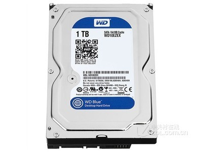 WD 1TB 7200转 64MB SATA3 蓝盘(WD10EZEX)