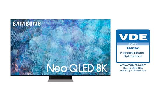 三星Neo QLED获得VDE空间声音优化认证